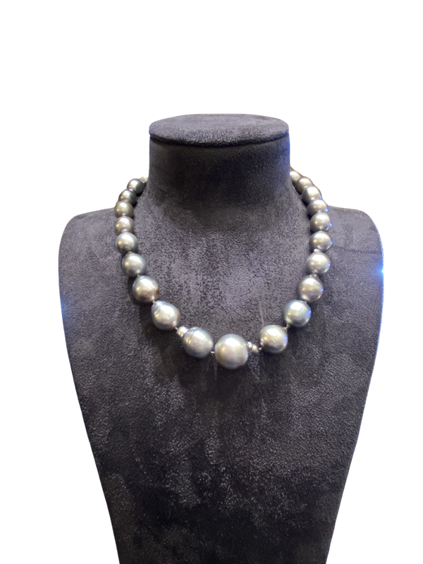 Sea Cultured Black Pearl Necklace - image 1