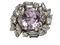 Cool Amethyst and Diamond Cluster Ring DBGEMS - image 1
