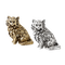 Salt and pepper cat shakers - image 1