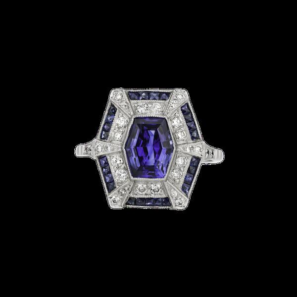 Sapphire diamond ring - image 1