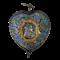 Seventeenth century enamelled silver heart - image 1