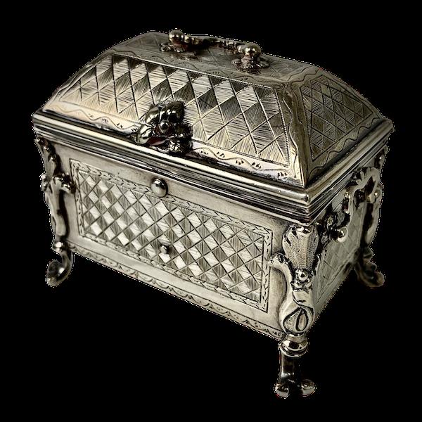 1720 Spanish silver casket/box - image 1