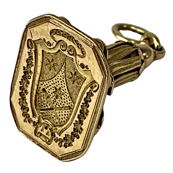 1760 French gold fob seal - image 1
