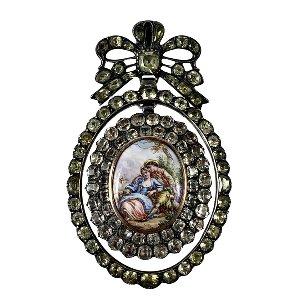 1820 Chrysolite and paste pendant - image 1