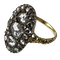 Ca 1800 gold and silver ring with diamonds - image 1