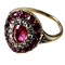 Eighteenth century gold ring with diamonds and rubies - image 1