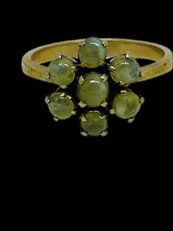 18K yellow gold Chrysoberyl Ring - image 1