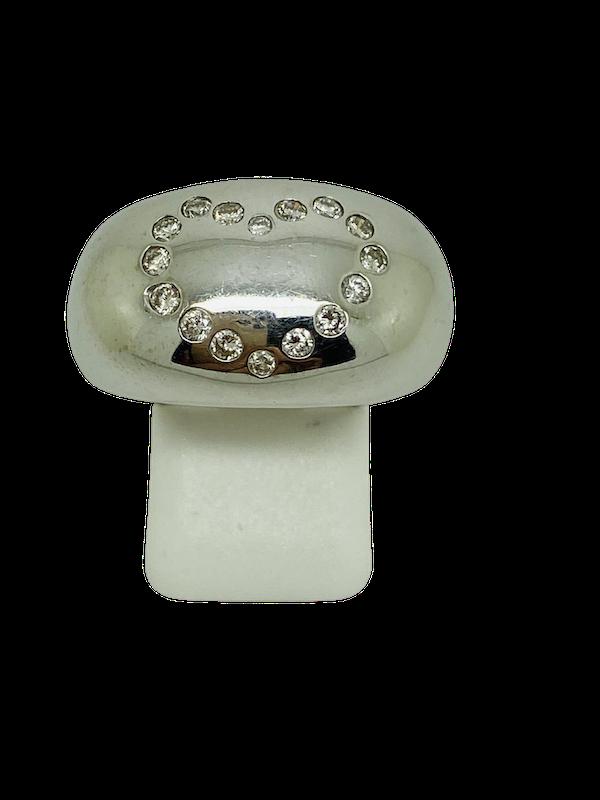 18K white gold 0.50ct Diamond Ring - image 1