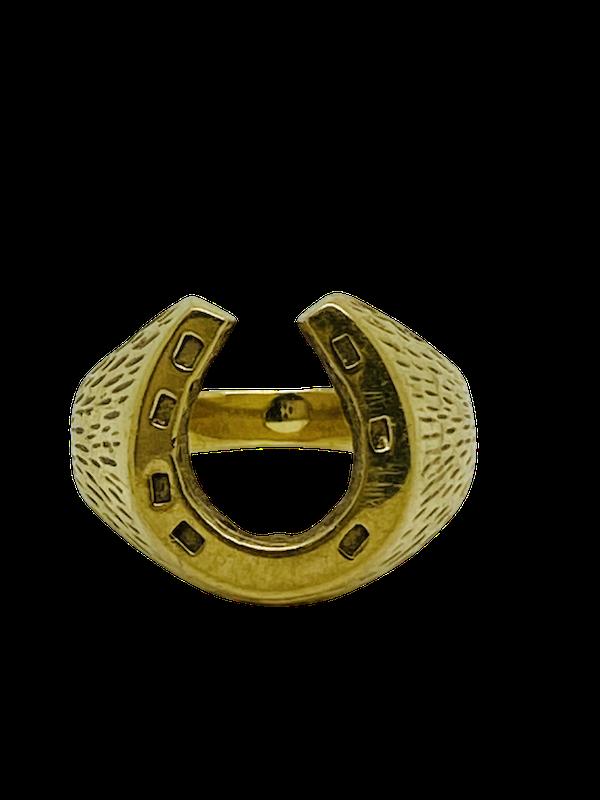9K yellow gold Ring - image 1