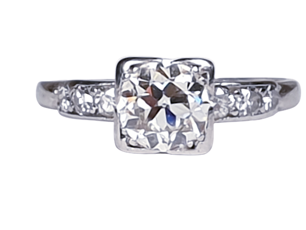 Art Deco Round Transitional Diamond in a Square Setting DBGEMS - image 1