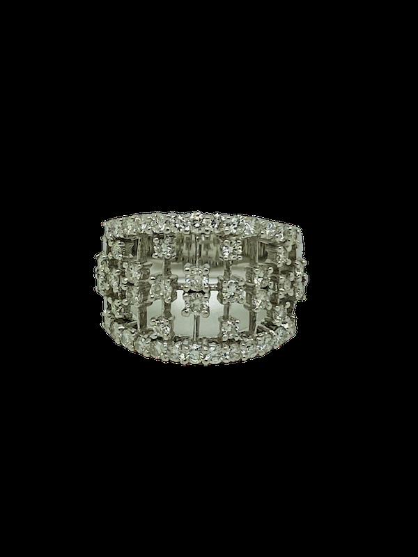 18K white gold Diamond Ring - image 1