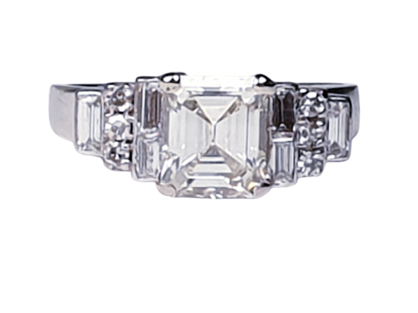 1.50ct Square Diamond Engagement Ring  DBGEMS - image 1