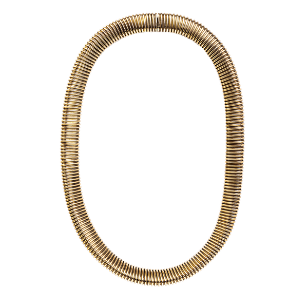 A French 1940s Gold Tubogas Choker - image 1