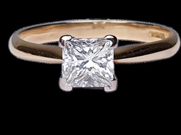 Princess Diamond Single Stone Engagement Ring  DBGEMS - image 1