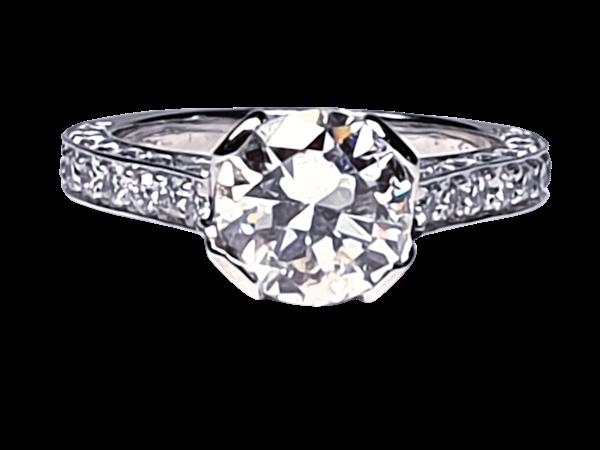 1.52ct old cut diamond engagement ring  DBGEMS - image 1