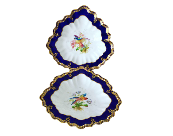 Pair of signed Royal Crown Derby dishes - image 1