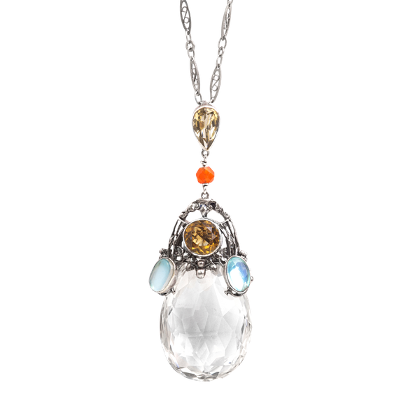 An Arts and Crafts Rock Crystal Pendant by Amy Sandheim - image 1
