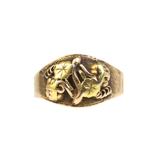 A Yellow and Rose Gold Ring from California - image 1