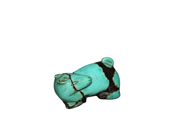 A rare Chinese turquoise figure of a hare. - image 1