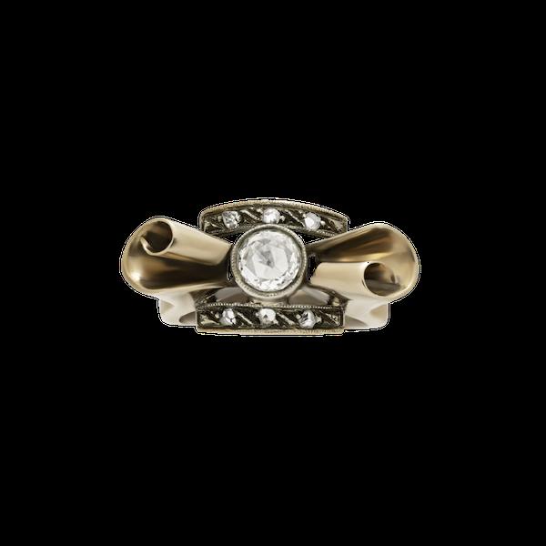 Retro Bow Ring - image 1