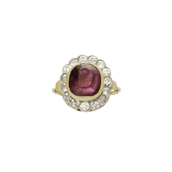 Natural Ruby and Diamond Ring - image 1