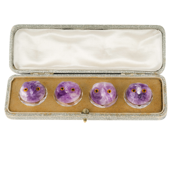 Amethyst and Crystal buttons - image 1