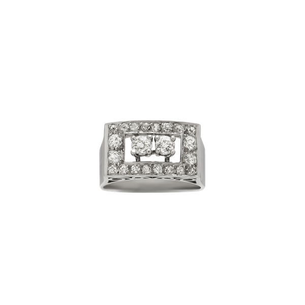 Chic Deco Diamond Ring - image 1