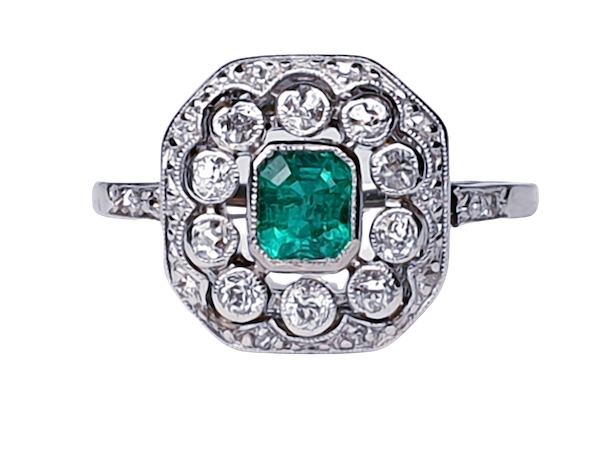 Belle Epoque Emerald and Diamond Ring  DBGEMS - image 1