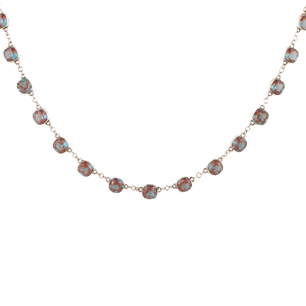 Sapphirite and silver necklace - image 1