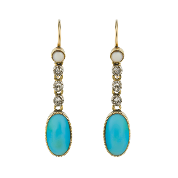 Antique turquoise earrings - image 1