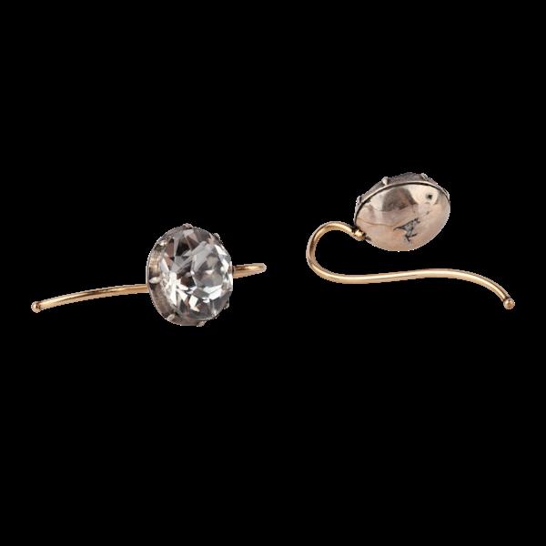 Georgian paste and silver earrings - image 1