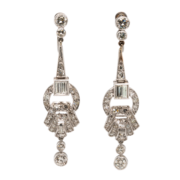 1920s diamond earrings - image 1