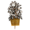 Fine gold rose diamond basket brooch - image 1
