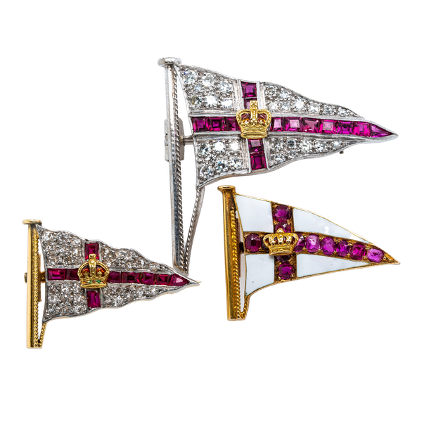 Royal Yacht Squadron brooches - image 1