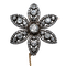 Georgian diamond flower brooch - image 1