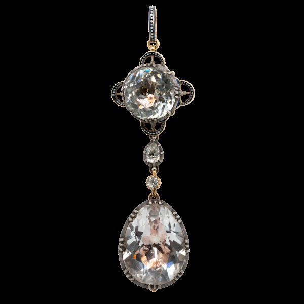 Giuliano enamel gem set pendant - image 1