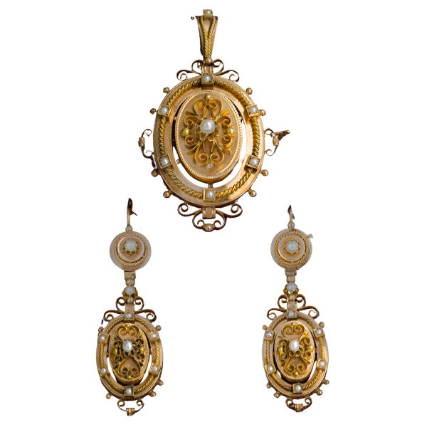 Victorian Suite of Gold Jewellery - image 1