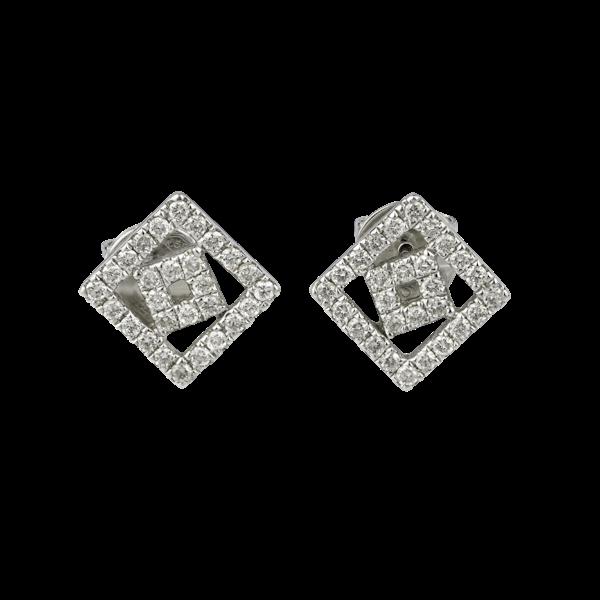 Double square diamonds earrings - image 1