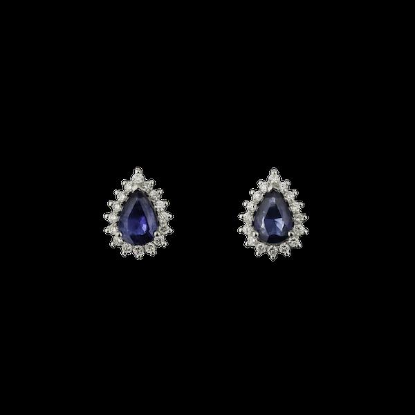 Droplet sapphire earrings - image 1