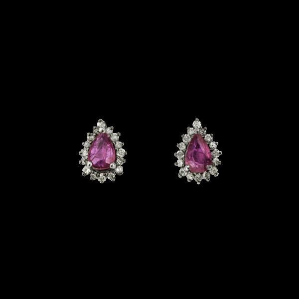 Droplet rubies earrings - image 1