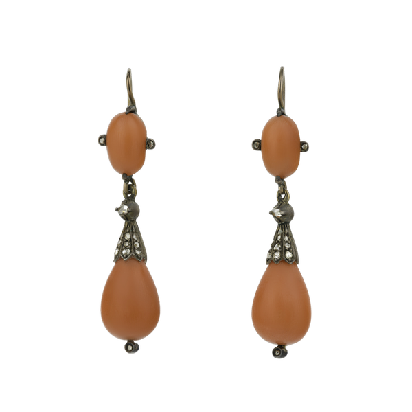 Antique Coral Earrings - image 1