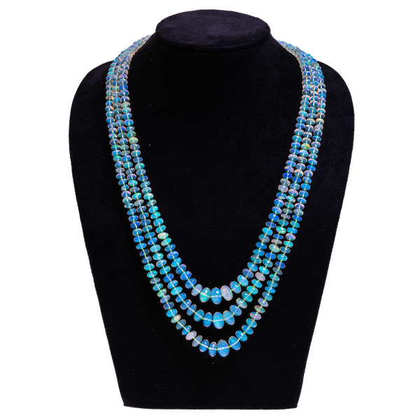 Opal faceted necklace - image 1