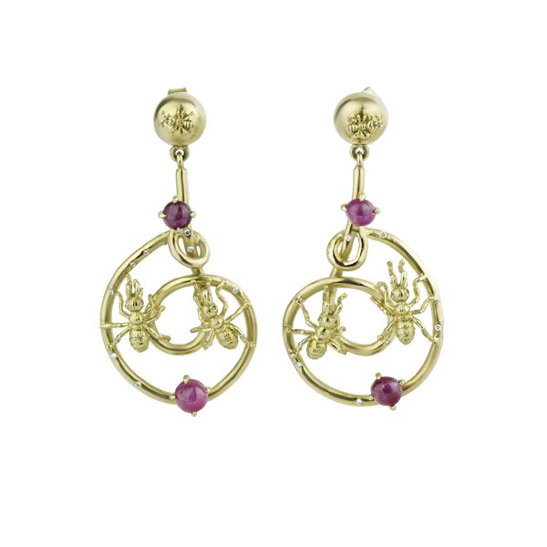 Pair of gem set 'Ant Design' Earrings - image 1