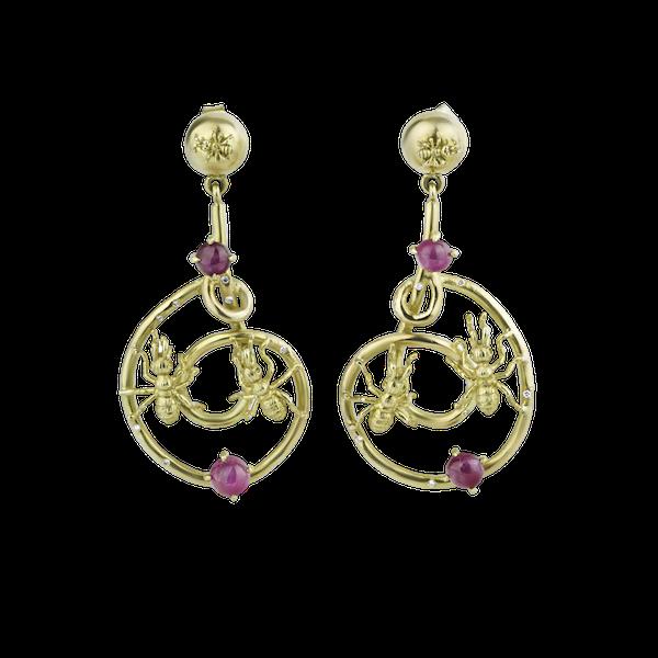 Pair of gem set 'Ant Design' Earrings - image 1
