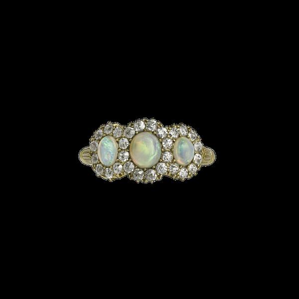 Victorian Opal & Diamond Ring - image 1