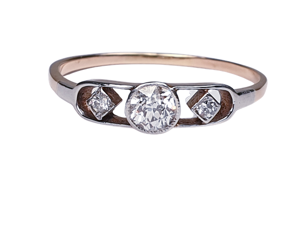 Edwardian Diamond Engagement Ring  DBGEMS - image 1