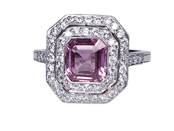 Pink Spinel and Diamond Ring  DBGEMS - image 1