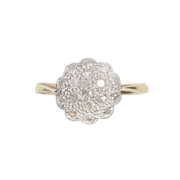 An antique Diamond Daisy Ring by Cropp and Farr - image 1