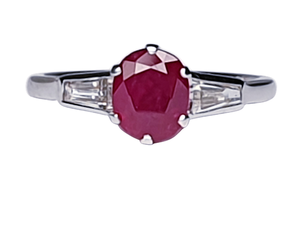 Ruby and diamond engagement ring  DBGEMS - image 1