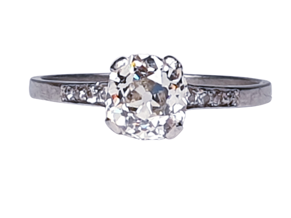 1.03ct cushion cut diamond engagement ring  DBGEMS - image 1